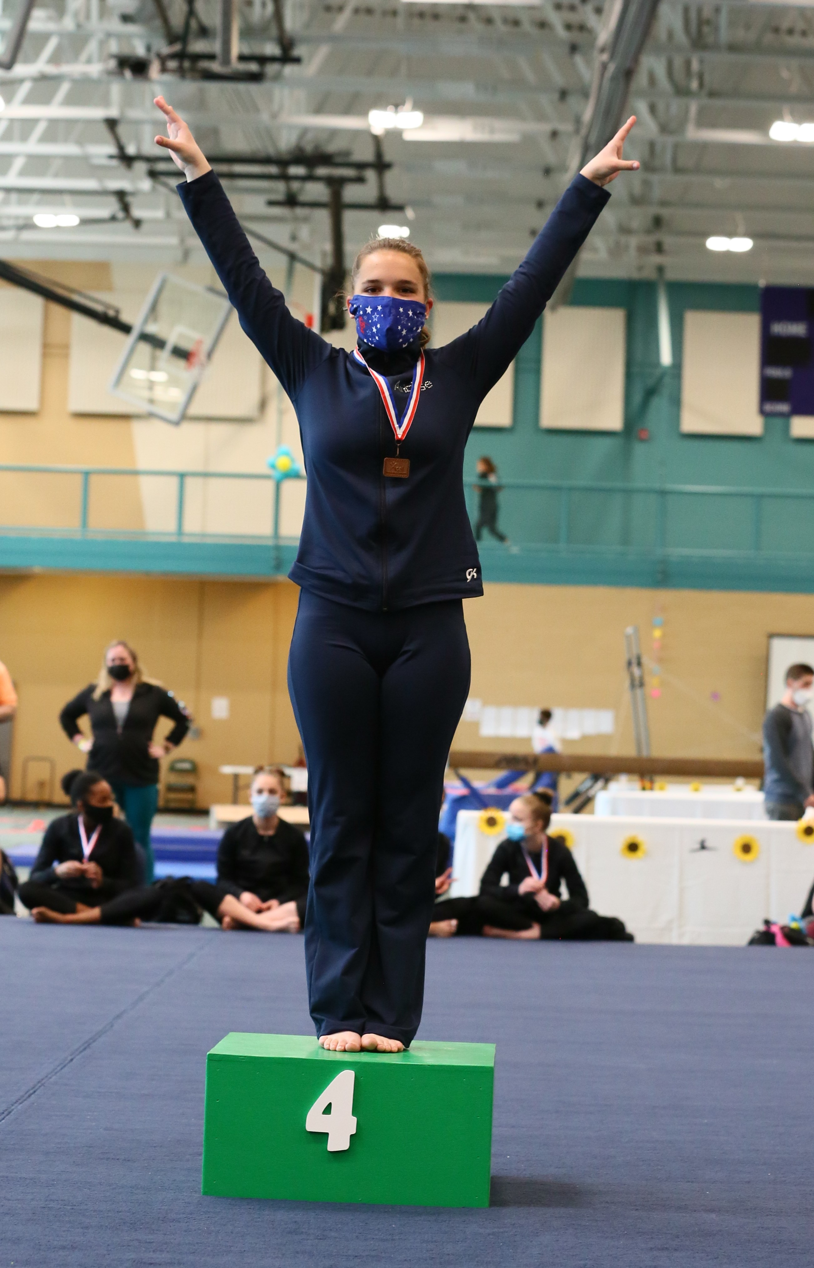 Armington Gymnast Places 4th at State