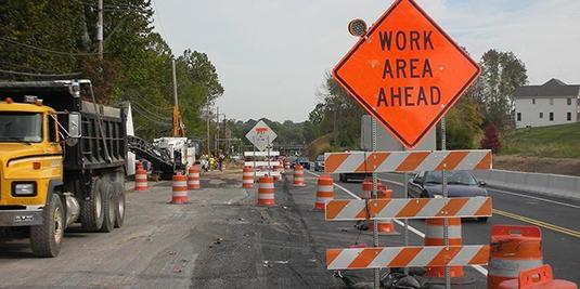 Olympia Road work begins