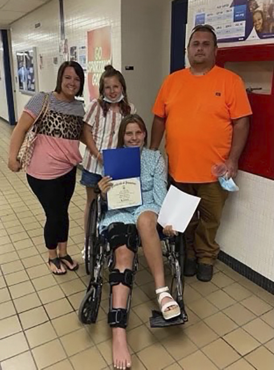 Payton Rich Recovers From Surgery