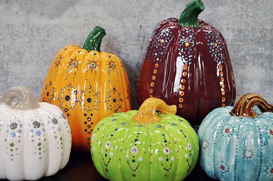 Pumpkin Mandalas and Wine