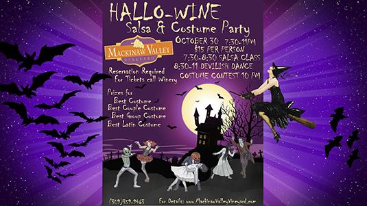 Hallo-wine DJ Dance Costume Party